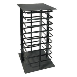Four Sided Black Acrylic Revolving Earring Display Rack