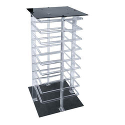 Four Sided Acrylic Revolving Earring Display Rack