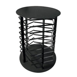 Five Sided Black Acrylic Revolving Earring Display Rack