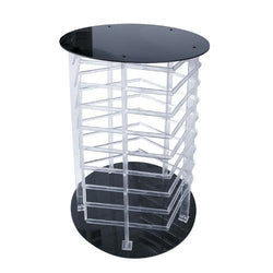 Five Sided Acrylic Revolving Earring Display Rack