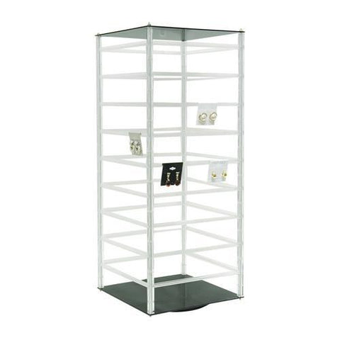 Acrylic Revolving Earring Display Rack - 5 Pieces
