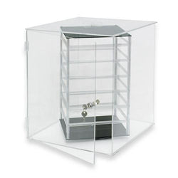 Four Sided Acrylic Revolving Earring Display Case