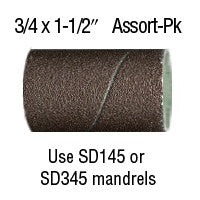 "Foredom 3/4"" x 1-1/2"" Aluminum Oxide BANDS 12-Pc Assortment Pack"