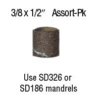 "Foredom 3/8"" x 1/2"" Aluminum Oxide BANDS 12-Pc Assortment Pack"