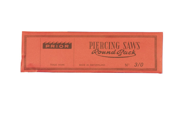 Jeweler Saw Blades Prior Brand 144 Piece Swiss Made Gross Piercing Grobet