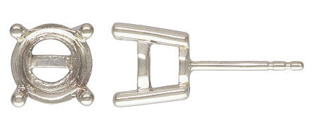 2pc. Sterling Silver 8mm 4 Prong Post