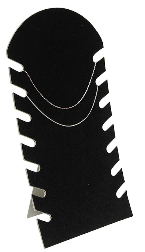 Black Flocked Cardboard Multiple Necklace Display 7 1 2 Quot W