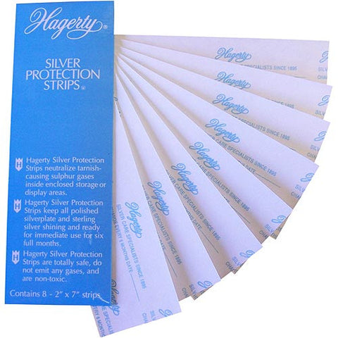 Hagerty 70000 Set of 8 2-by-7-Inch Silver Protection Strips for Silver Storage