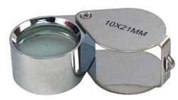 Silver 10x 21mm Jewelry Loupe