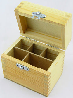 Wood Box Storing Safely Gold Test Kit Holds 3 Testing Acid Bottles 2 Stones Kits