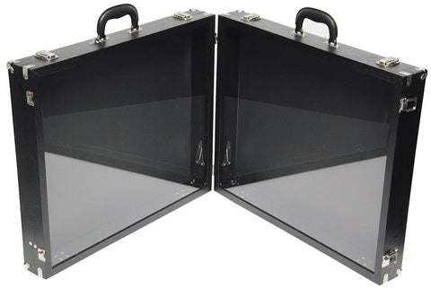 Double Side Carrying Case w Glass 24'' x 20'' x 3''H/side