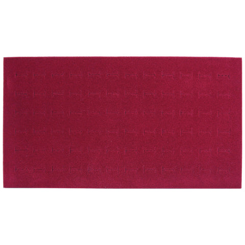 Burgundy 72 Ring Display Foam 14 1/4'' W x 7 5/8""