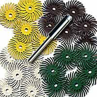 "Foredom AK4530 Radial Bristle Disc Assortment, 1"", 25pc"