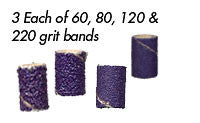 "Foredom AK4910 Ceramic Purple Band Assortment, 1/4"" x 1/2"", 12-Pc"