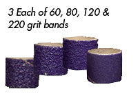 "Foredom AK4920 Ceramic Purple Band Assortment, 1/2"" x 1/2"", 12-Pc"