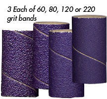 "Foredom AK4940 Ceramic Purple Band Assortment, 3/4"" x 1-1/2"", 12-Pc"