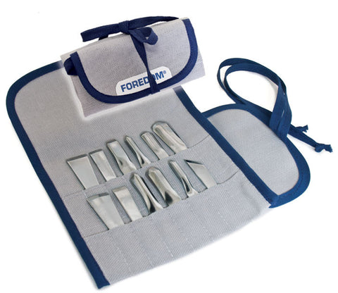 Foredom AK510 Chisel Set in Canvas Pouch, 12Pc