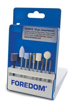 Foredom AKHK10 General Use Assortment Kit, 10-Pc