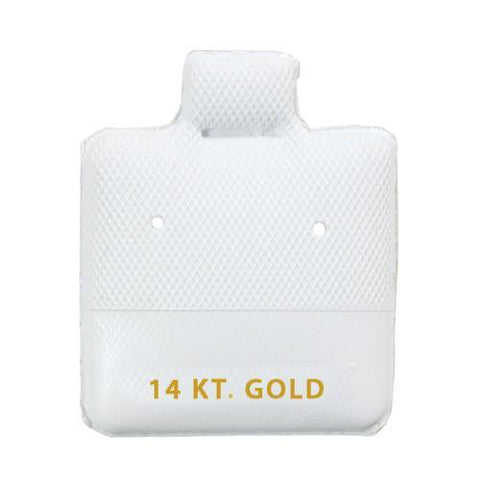 """14KT Gold"" White Earring Puff Pads - BX565-1"