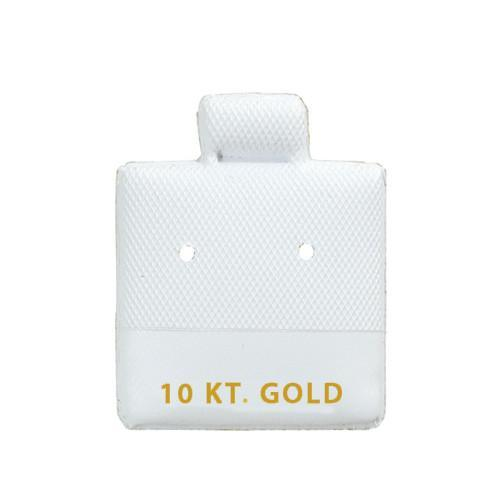 """10KT Gold"" White Earring Puff Pads - BX565-2 - 60 Pieces (100pcs/pk)"