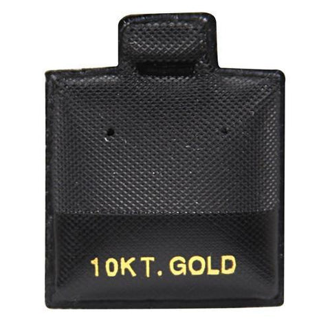 """10KT Gold"" Black Earring Puff Pads - BX565B-2 - 60 Pieces (100pcs/pk)"