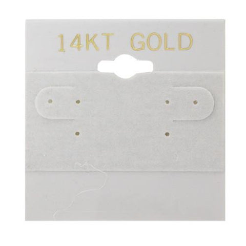 """14KT Gold"" Gray Hanging Earring Cards - BX572G"