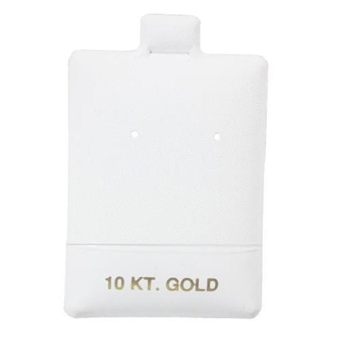 """10KT Gold"" White Earring Puff Pads - BX585-2 - 30 Pieces (100pcs/pk)"