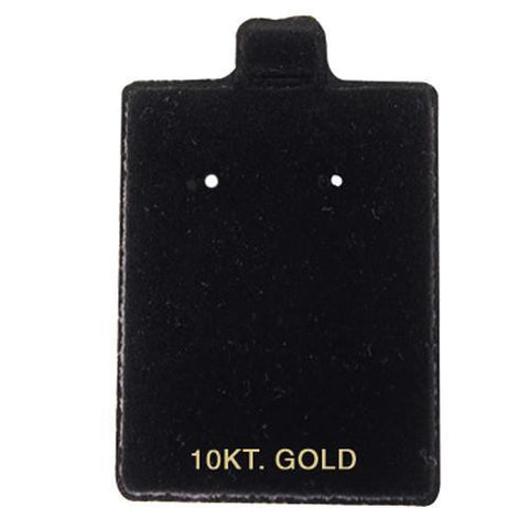 """10KT Gold"" Black Flocked Earring Puff Pads - BX585FB-2"