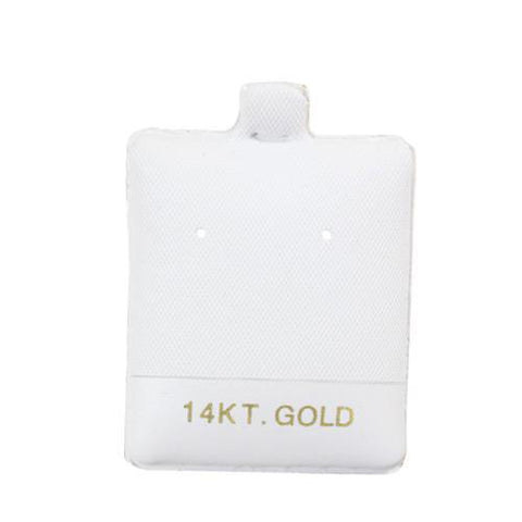 """14KT Gold"" White Earring Puff Pads - BX595-1 - 30 Pieces (100pcs/pk)"