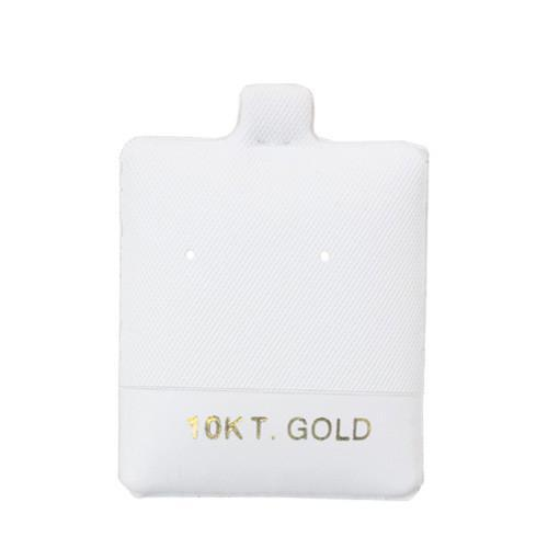 """10KT Gold"" White Earring Puff Pads - BX595-2 - 30 Pieces (100pcs/pk)"
