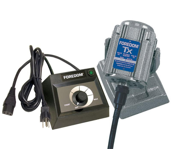 Foredom M.TXBH-EMX Bench Motor with Heavy Duty Shafting and Dial Control