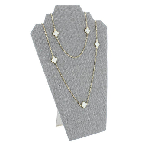 Gray Linen Earring & Necklace Easel Display - CD-6001N-N21 - 72 Pieces