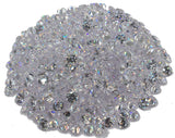 1.00mm - 6.50mm AAA Round White Cubic Zirconia 100 Piece Lots