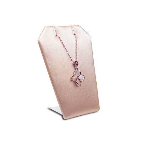 Champagne Pink Leatherette Necklace and Pendant Holder - ED-2143-S50 - 48 Pieces