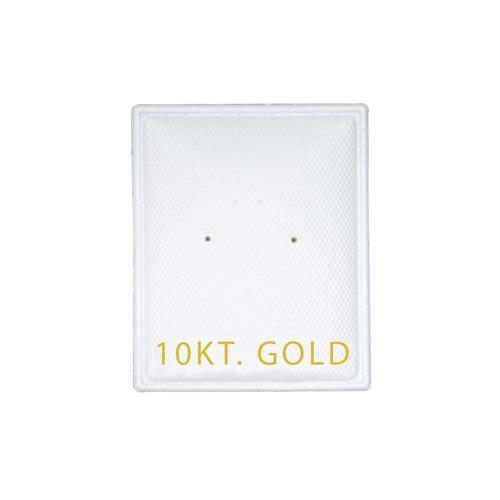 """10KT Gold"" White Earring Puff Pads - EP01-2 - 5 Pieces (100pcs/pk)"