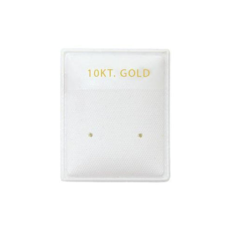 """10KT Gold"" White Earring Puff Pads - EP03-2 - 5 Pieces (100pcs/pk)"