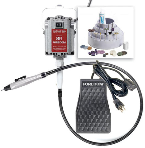 Foredom K.2220 Quick Change Jewelers Kit, 230 Volt-Int'l