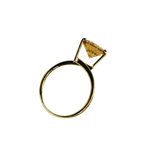 GEMORO SIMULATED SOLITAIRE DISPLAY RING – GOLD