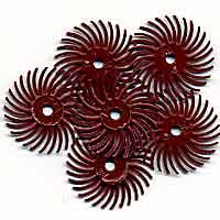 "Foredom Radial Bristle Discs, 220 Grit, Red, 3/4"", 6-Pk"
