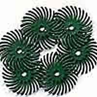 "Foredom Radial Bristle Discs, 50 Grit, Green, 1"", 6-Pk"