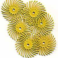 "Foredom Radial Bristle Discs, 80 Grit, Yellow, 3/4"", 6-Pk"