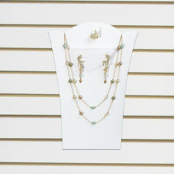 Slatwall Necklace, Earring, and Ring Pad Display - SD-6739