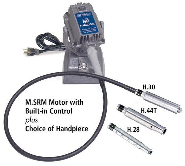Foredom M.SRM SRM Bench Motor with Built-in Control- M.SRM, Choice of Handpiece