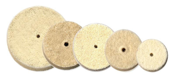 "Foredom Square Edge Solid Felt Buffs, 1/2"" - 1"", 10-pks"