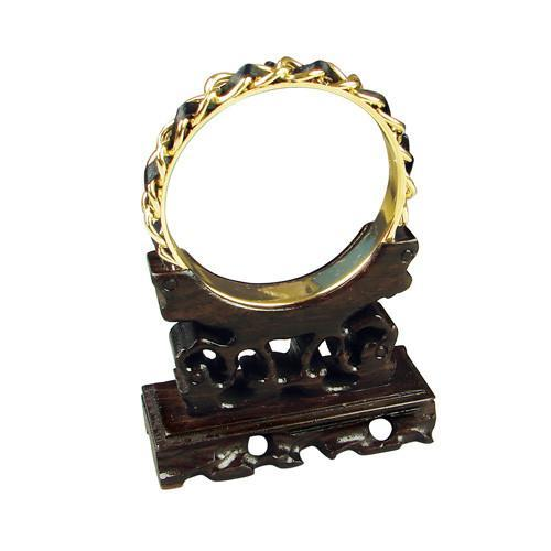 Carved Wooden Bangle Display Stand - WA317