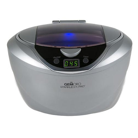 Gemoro Sparkle Spa Pro - Deluxe Personal Ultrasonic Jewelry Cleaner - Slate