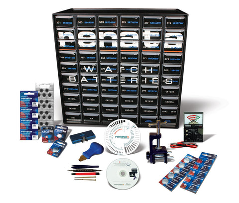 Renata Deluxe Watch Battery Starter Kit Small Business Change Batteries Station
