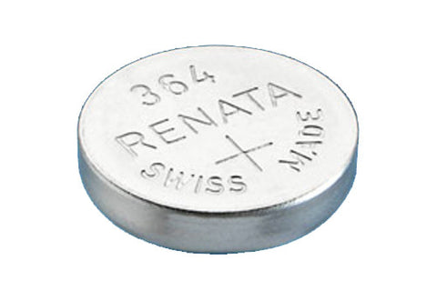 RENATA WATCH  BATTERY 1.55V SWISS MADE BATTERIES 364 SR621SW