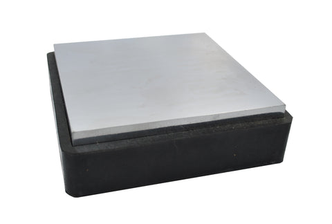 "RUBBER STEEL BENCH BLOCK 4"" X 4"" X 3/4"""