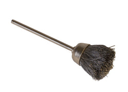"1/2"" Cup Brush, Brass, Steel Straight, 3/32"" Mandrel"
